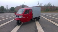 closed cargo box with cabin tricycle three wheel motorcycle