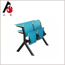Professional Design University Classroom Study Desk With Folding Chair
