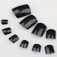 Yimart Hot-selling Christmas Black Artificial Toe nail tips Nail Tips