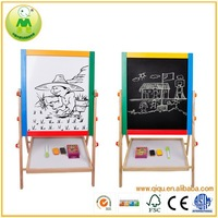 Multi-function Magnetic Kids Drawing Board Wooden Easel