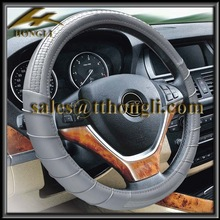 HL89001 hot sale alcantara car steering wheel cover pu leather material sales from manufacturer