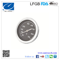 large dial stainless steel oven temperature gauge