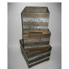natural wooden crate storage crate wholesale