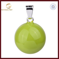 pure candy yellow color harmony bola ball for kids ,chiming ball pendant wholesale