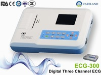 FDA and CE approved Cardiology Heart monitor Digital ECG 3 lead Channel ekg