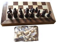 high quality wooden chess box foldable wooden chess set