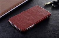 Brown luxury deluxe flip leather case cover for Samsung galaxy note 2 N7100