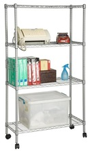 RH-HZL11 Metal Office Shelving Wire Shelf With Wheels