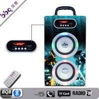 Wooden box&arcylic panel FM radio,remote controller,hands-free calls,Led display,NFC, touch buttons bluetooth speaker