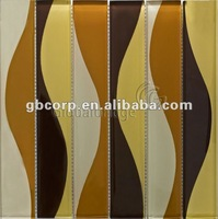 Crystal mosaic glass tile Colorize series Tawny
