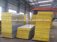 Thermal Insulation Composition rock wool/ eps /pu/ fiber glass sandwich Panels