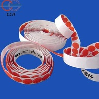 red adhesive hook and loop dots