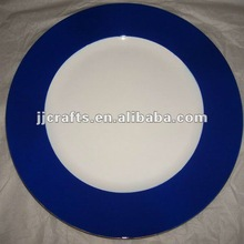 2012 newest style plastic charger plate in super quality