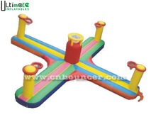 Hot commercial challenge inflatable bungee run basketball
