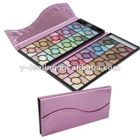 100 Color Flower Glitter Makeup Eyeshadow Cosmetic Palette with Luxury PinK Case