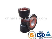 ductile iton pipe fitting double socket tee with flanged branch MDS012