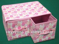 Cartoon drawer type fabric cover make-up box