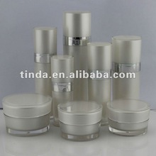 Cosmetic jars bottles cylinder acrylic collection