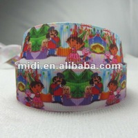 Orderonline Girl Dora&King cartoon printed ribbon