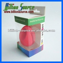 Egg shaped portable silicon speaker with box packing