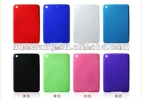 8 colors silicon back cover for ipad mini