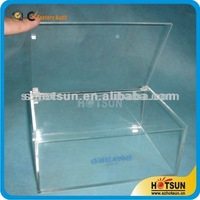 Clear acrylic container for storing candy