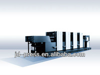 New good quality flatbed four colour greeting card offset printing machine PZ4660-AL in China