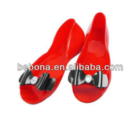 2013 new design red clear jelly women sandals