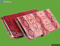 Snake Skin Design For Galaxy Note 2 Holster Case 3 Slots For Cards