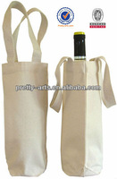 personalized canvas wine tote bag