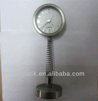 decorative stainless steel spring desk clock