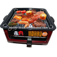 no-smoke non-stick electric mini bbq grill for home/travel/party