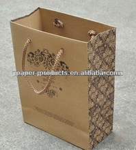2012 hot sell modern custom FM fashion mini brown paper carry bag