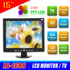 Brand new cheap 15 inch super tft lcd color tv with vga port LD-1688S