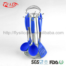 FDA Silicone Kitchen Tool Set,6Pcs for 1Set With Dark Blue Color