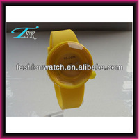 New arrival new jelly digital odm style silicone sports watch women stlyle yellow colour 2013