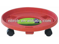 Garden plastic flower pot trolley