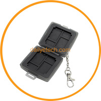 MC-U6D CF card case holder carrying 2 CF 4 XD Cards 4 MS Pro Duo from Dailyetech