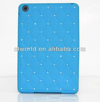 Blue Silicone diamond cover for ipad 2