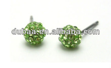 Crystal Stud Earrings,Round Stud Rarrings Dubaa Fashion,Stainless Steel Stud Earrings with Crystal Ball