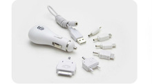New product 6 in 1 USB Multi-function car battery charger for iPod/iPhone/samsung s4