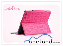 Cute magic girl leather case for the New ipad 3,magic girl leather flip case cover