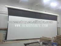 front office equipment/tubular motor for projection screen/HOT sale tensioned screen with 3D silver screen fabric