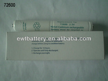 72600 2.5V 800mAh Ni-CD AA rechargeable battery pack