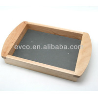 Birch Wood Tray w/Slate