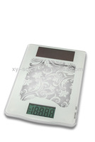 5kg solar food scale vegetable fruit weighing scale OEM factory CE health household electronic kitchen scale