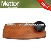 2014 METTOR hot sale acacia serving tray, tray with bowl,antique wood tea tray