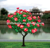 LED light tree Artificial middle red cherry flower tree Artificial palm trees China professional biggest manufacturer 14 years