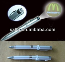 LED Logo Projector Ballpen China Factory,high quality led laser logo projection metal pen