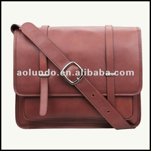 Best selling leisure real leather laptop messenger bag for men